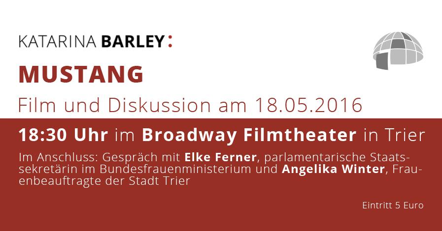 """""""MUSTANG"""" – Film und Diskussion am 18.05. in Trier"""