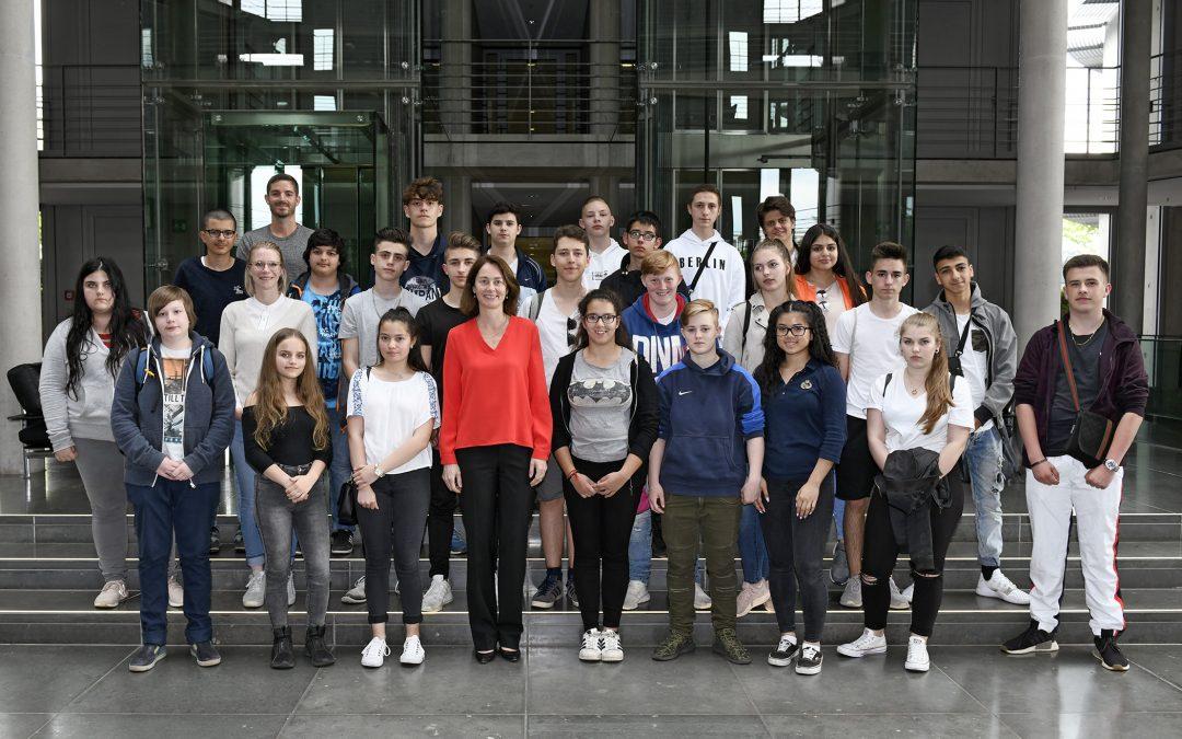 Schulgruppen im Bundestag