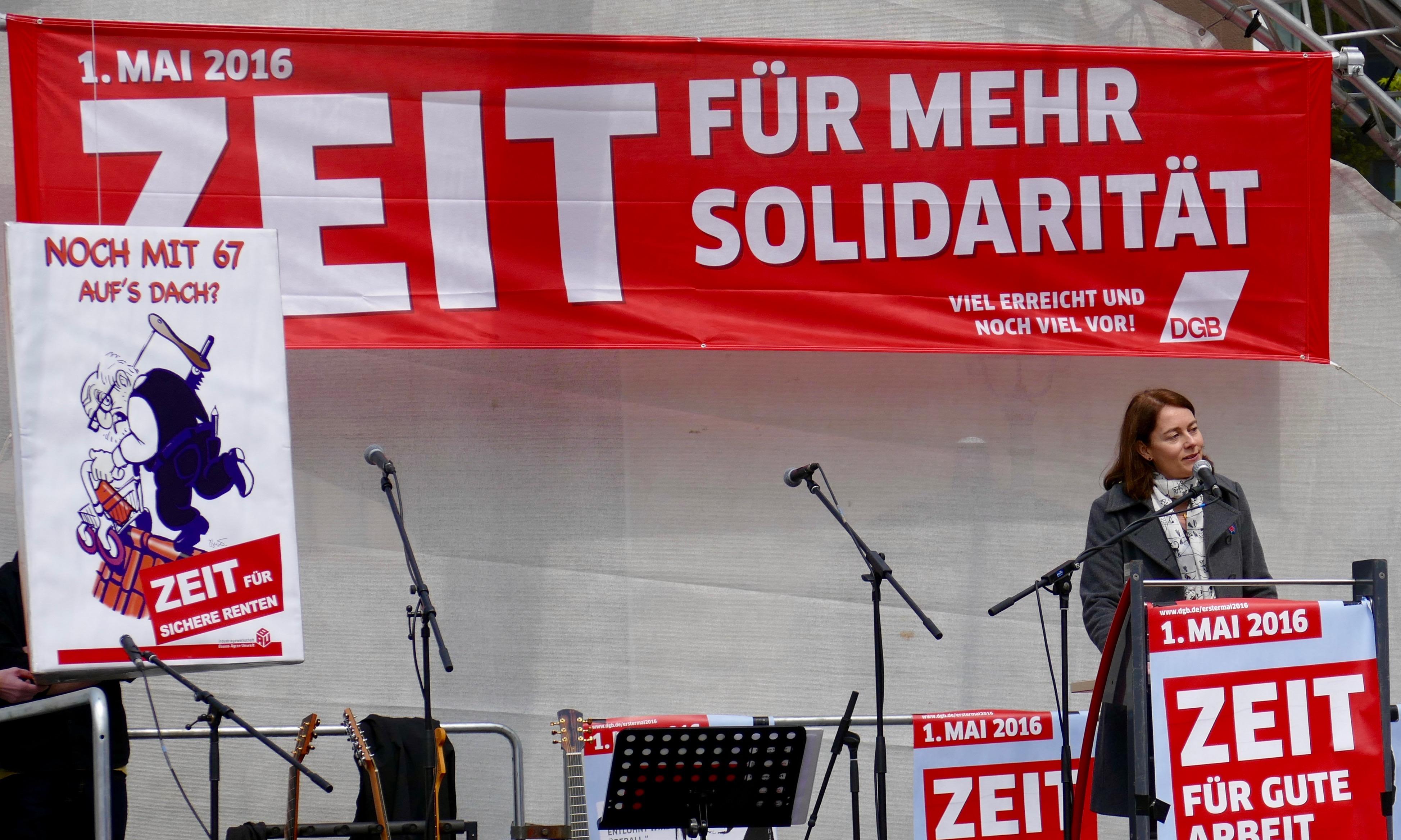 Zeit für mehr Solidarität – 1. Mai 2016