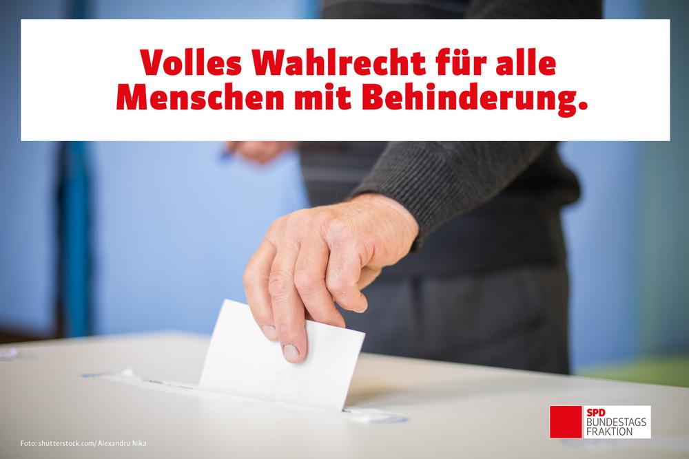 Inklusives Wahlrecht: SPD setzt sich durch